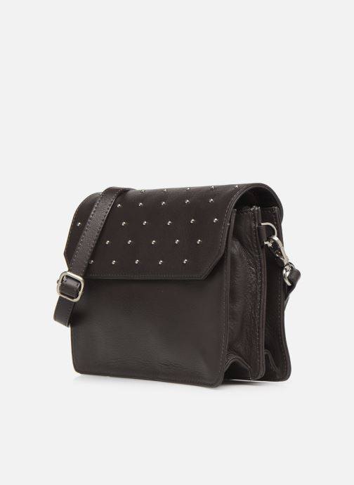 Handtaschen Sabrina Nina grau schuhe getragen