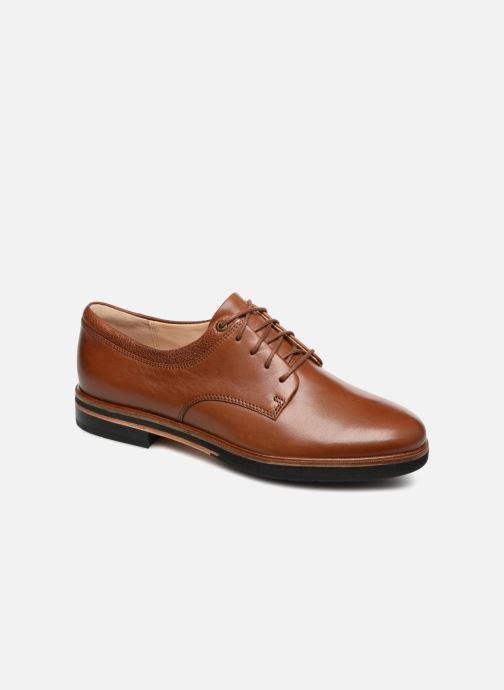 Chaussures à lacets Clarks Frida Derby Marron vue détail/paire