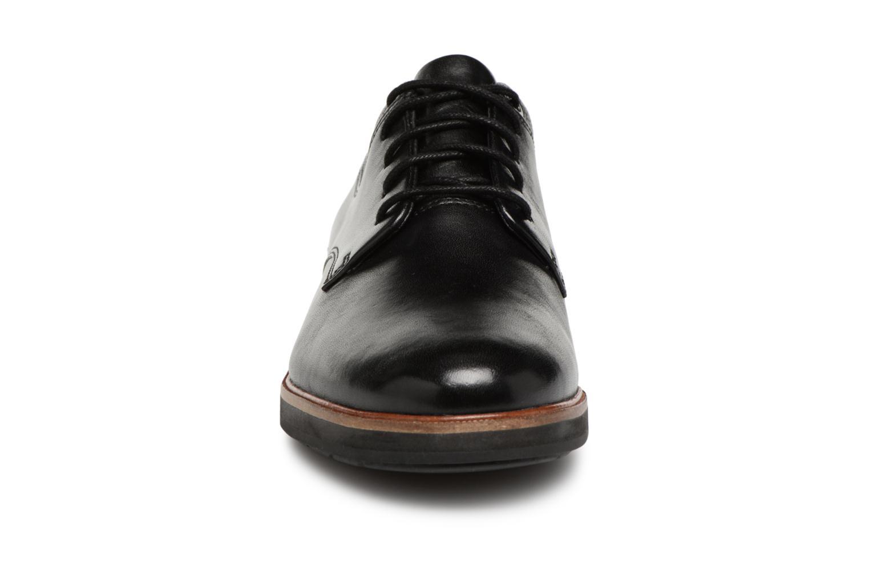 Schnürschuhe Clarks Frida Derby schwarz schuhe getragen