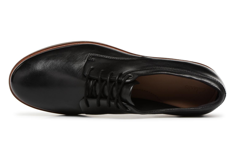 Chaussures à lacets Clarks Frida Derby Noir vue gauche