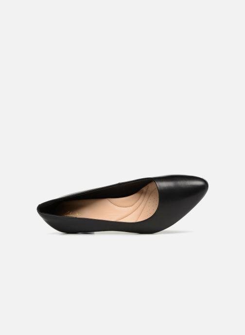 Zapatos de tacón Clarks Calla Rose Negro vista lateral izquierda