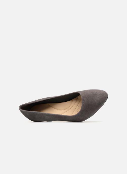 Zapatos de tacón Clarks Calla Rose Gris vista lateral izquierda
