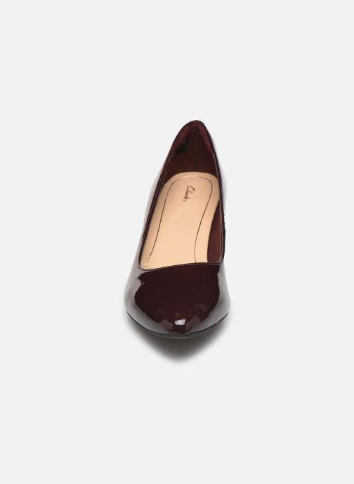 Escarpins Clarks Calla Rose Bordeaux vue portées chaussures