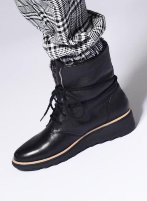 Bottines et boots Clarks Sharon Pearl Noir vue bas / vue portée sac