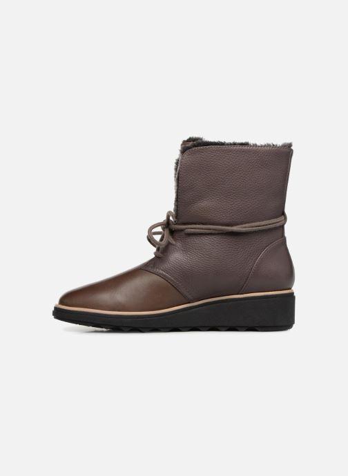 Boots en enkellaarsjes Clarks Sharon Pearl Bruin voorkant