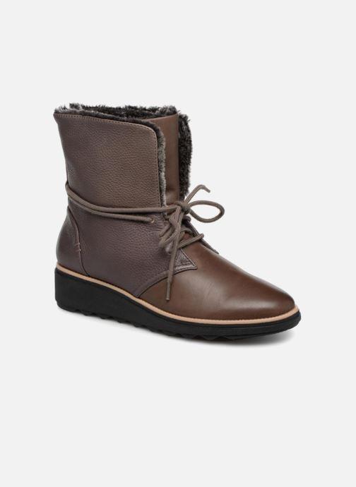 Bottines et boots Clarks Sharon Pearl Marron vue détail/paire