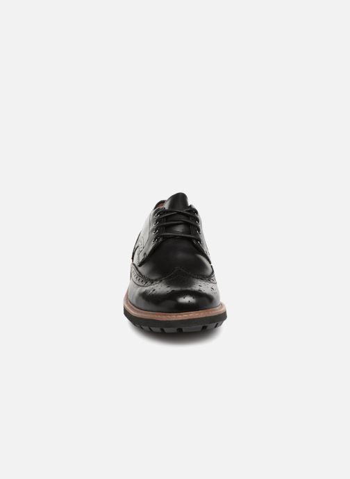 Schnürschuhe Clarks Batcombe Wing schwarz schuhe getragen