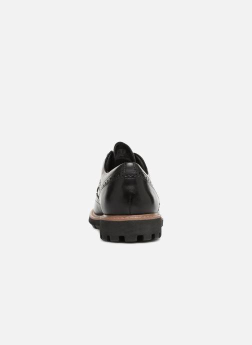 Zapatos con cordones Clarks Batcombe Wing Negro vista lateral derecha