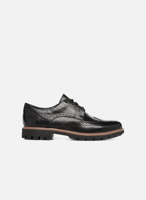 Zapatos con cordones Clarks Batcombe Wing Negro vistra trasera