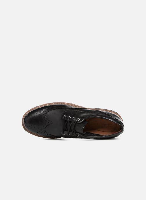 Chaussures à lacets Clarks Batcombe Wing Noir vue gauche