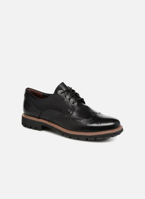 Chaussures à lacets Clarks Batcombe Wing Noir vue détail/paire