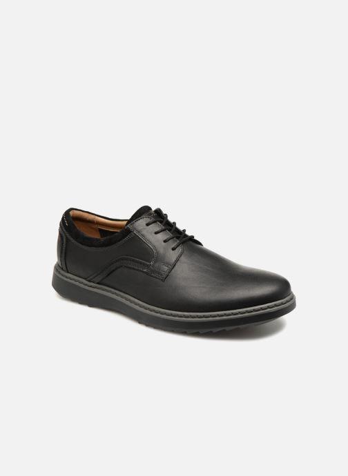 2dfbc25a62b89 Chaussures à lacets Clarks Unstructured Un Geo Lace Noir vue détail paire