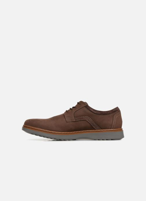 Chaussures à lacets Clarks Unstructured Un Geo Lace Marron vue face