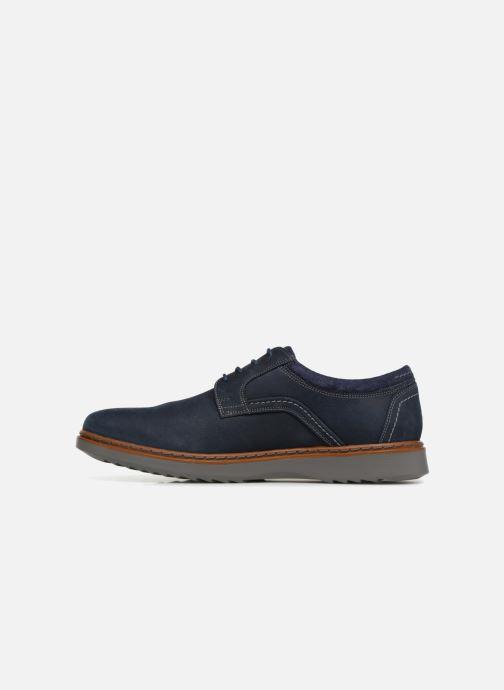 Chaussures à lacets Clarks Unstructured Un Geo Lace Bleu vue face