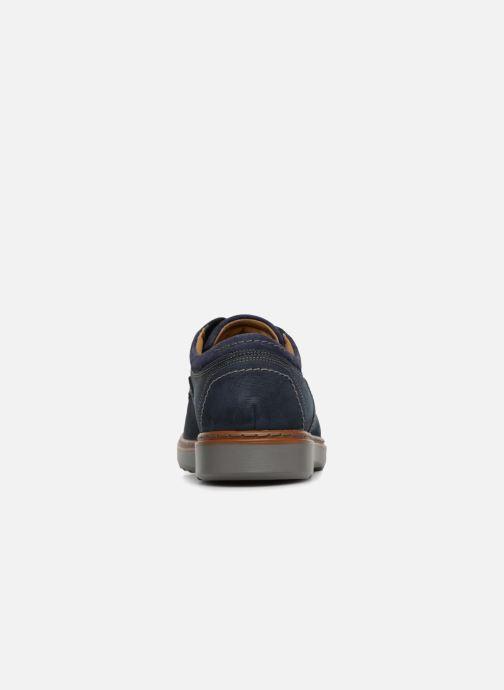 Chaussures à lacets Clarks Unstructured Un Geo Lace Bleu vue droite