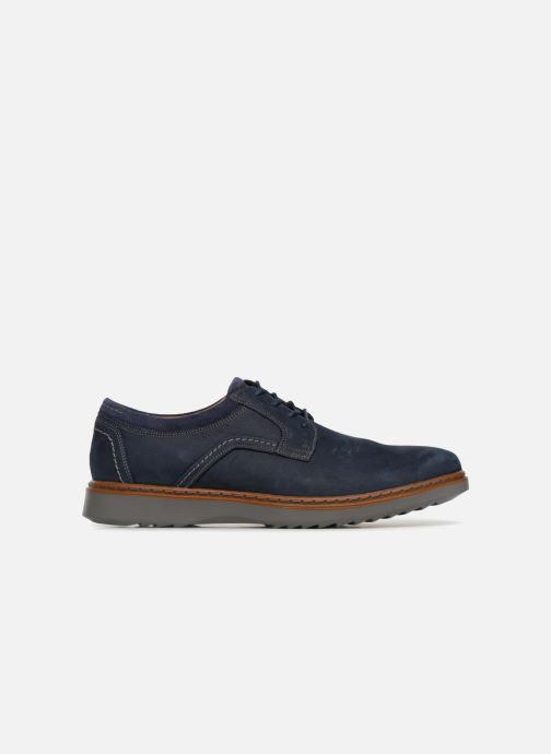 Chaussures à lacets Clarks Unstructured Un Geo Lace Bleu vue derrière