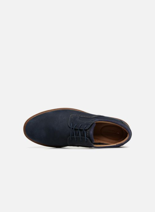 Chaussures à lacets Clarks Unstructured Un Geo Lace Bleu vue gauche