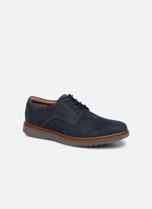 Chaussures à lacets Clarks Unstructured Un Geo Lace Bleu vue détail/paire