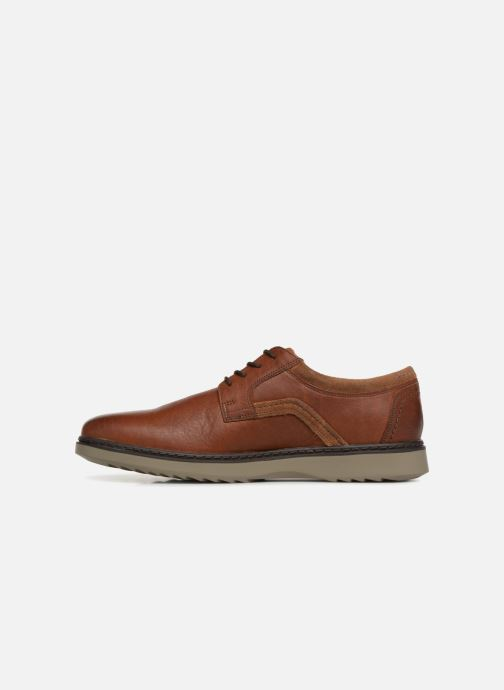 Chaussures à lacets Clarks Unstructured Un Geo Lace Marron vue face