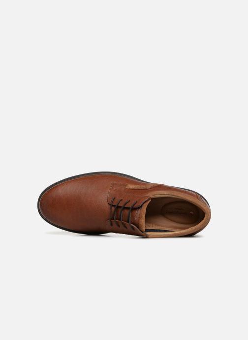 Chaussures à lacets Clarks Unstructured Un Geo Lace Marron vue gauche