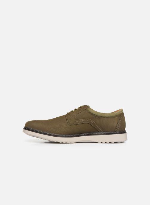 Zapatos con cordones Clarks Unstructured Un Geo Lace Verde vista de frente
