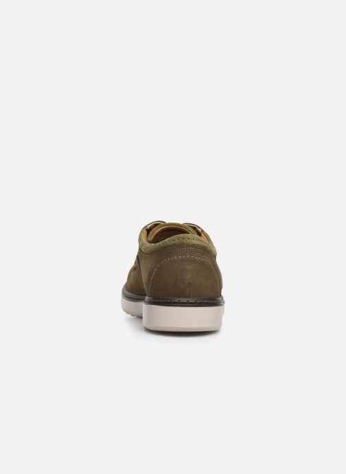 Zapatos con cordones Clarks Unstructured Un Geo Lace Verde vista lateral derecha