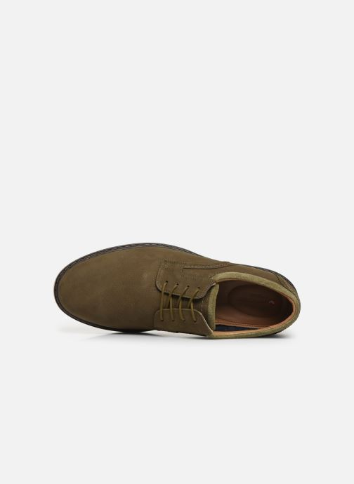Lace-up shoes Clarks Unstructured Un Geo Lace Green view from the left