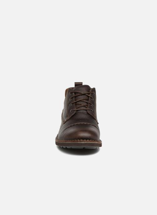 Boots en enkellaarsjes Clarks Unstructured Lawes Top Bruin model