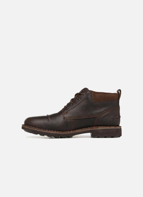 Boots en enkellaarsjes Clarks Unstructured Lawes Top Bruin voorkant