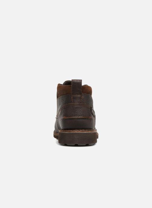 Boots en enkellaarsjes Clarks Unstructured Lawes Top Bruin rechts