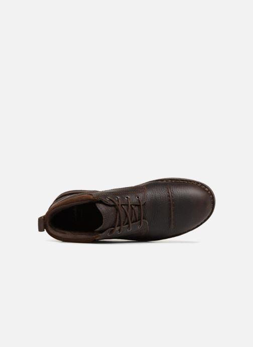 Boots en enkellaarsjes Clarks Unstructured Lawes Top Bruin links