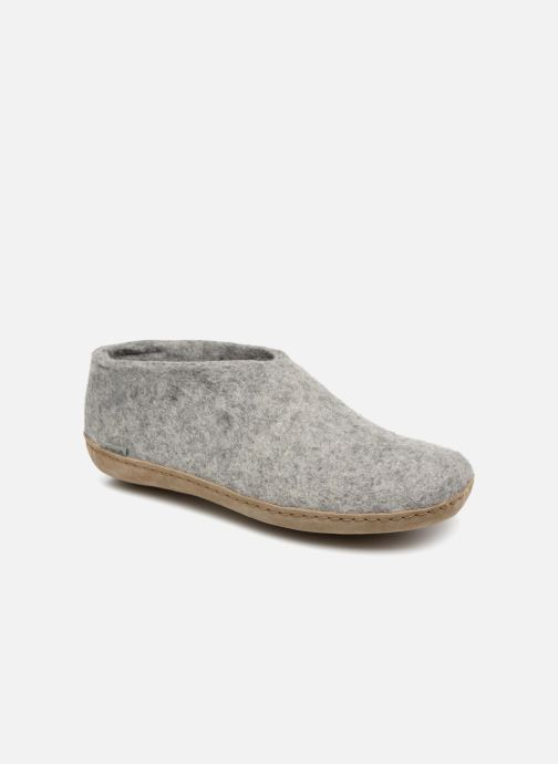 Slippers Glerups Porter Man Grey detailed view/ Pair view