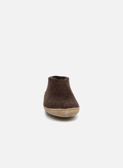 Chaussons Glerups Porter Man Marron vue portées chaussures