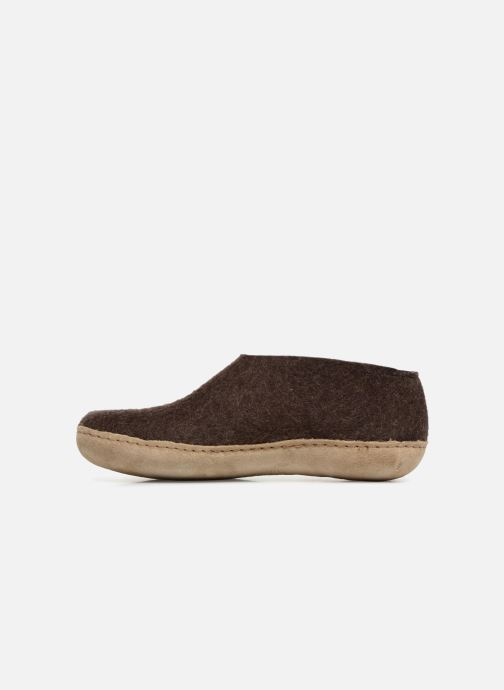 Chaussons Glerups Porter Man Marron vue face