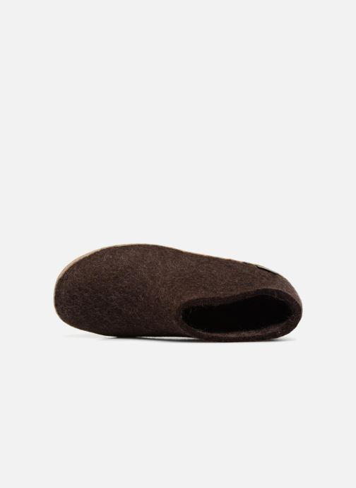 Pantoffels Glerups Porter Man Bruin links