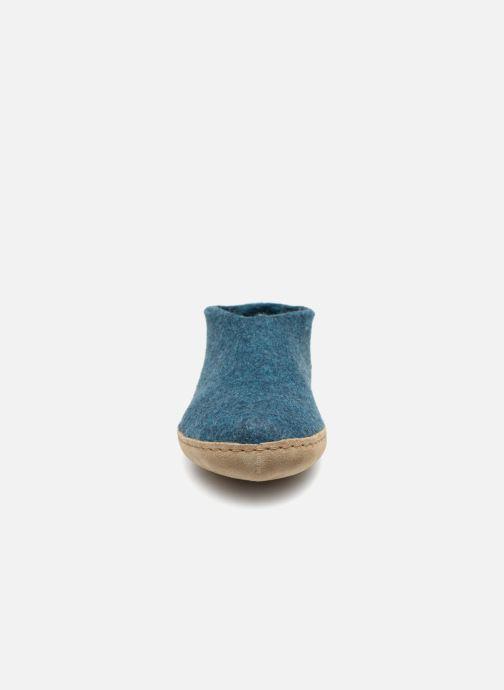 Hausschuhe Glerups Porter Man blau schuhe getragen
