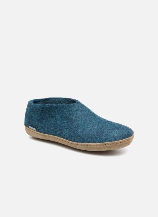 Hjemmesko Glerups Porter Man Blå detaljeret billede af skoene