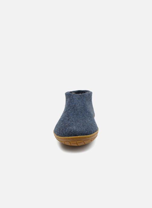 Hausschuhe Glerups Porter Gomme Man blau schuhe getragen