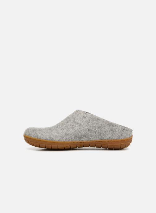 Slippers Glerups Piras Gomme Man Grey front view