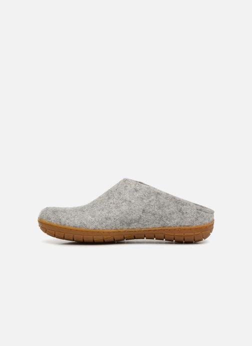 Pantoffels Glerups Piras Gomme Man Grijs voorkant