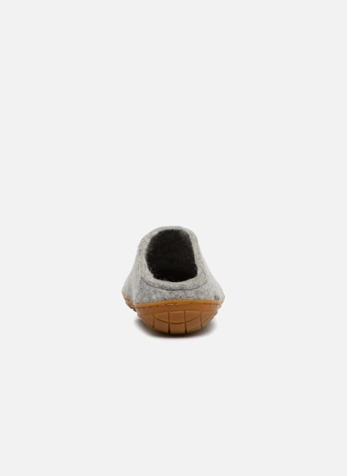 Slippers Glerups Piras Gomme Man Grey view from the right