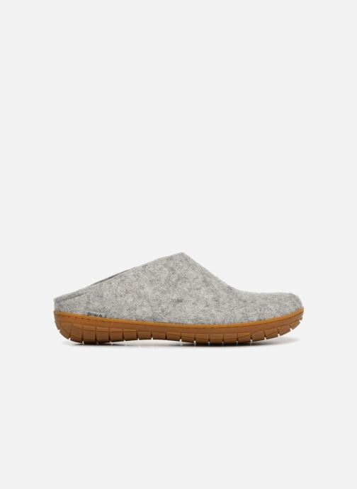 Slippers Glerups Piras Gomme Man Grey back view