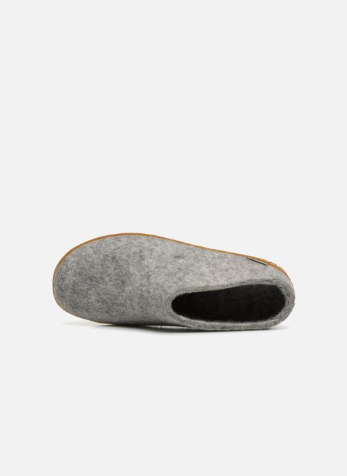 Slippers Glerups Piras Gomme Man Grey view from the left