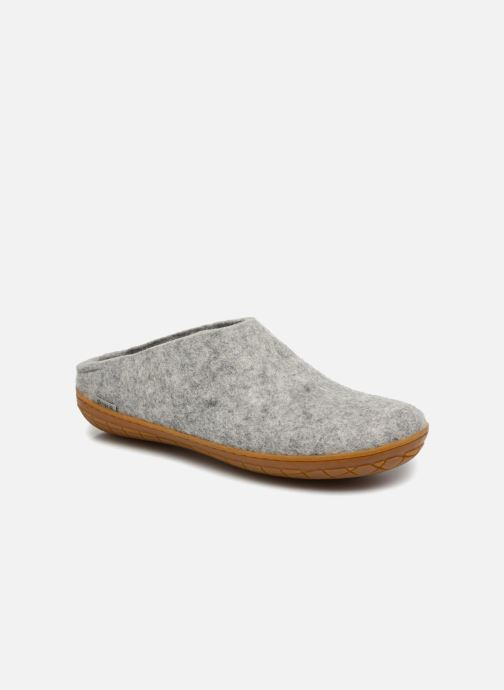 Slippers Glerups Piras Gomme Man Grey detailed view/ Pair view