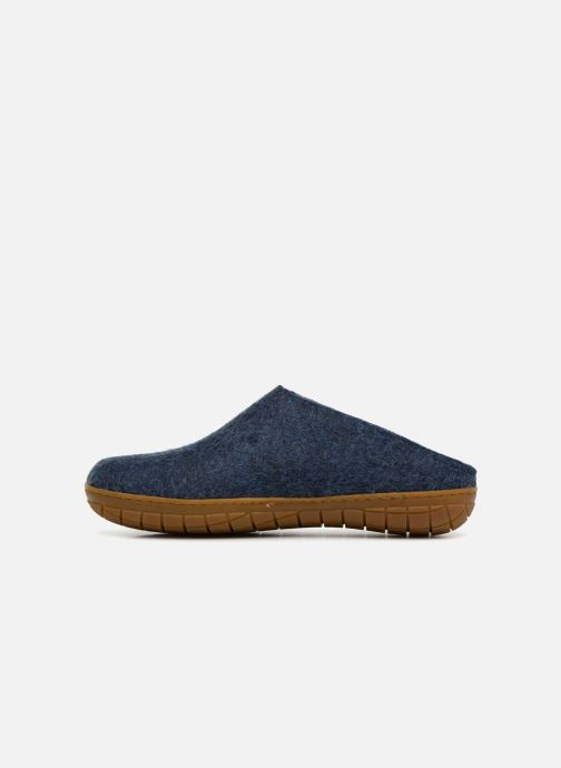 Slippers Glerups Piras Gomme Man Blue front view