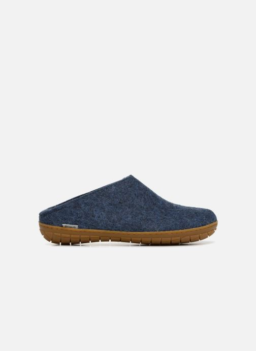 Slippers Glerups Piras Gomme Man Blue back view