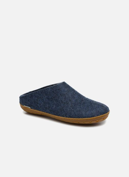 Slippers Glerups Piras Gomme Man Blue detailed view/ Pair view