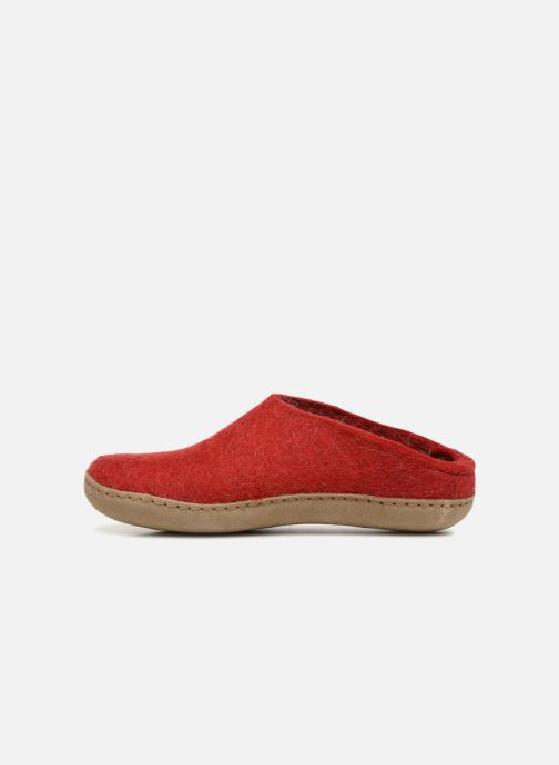 Slippers Glerups Piras Woman Red front view