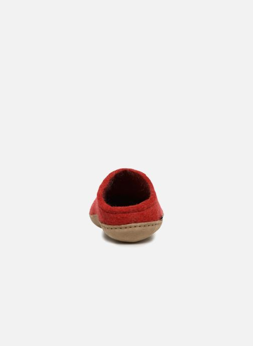 Slippers Glerups Piras Woman Red view from the right