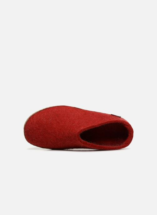 Slippers Glerups Piras Woman Red view from the left